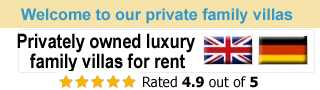 Privately owned Luxury Family Villas for rent
