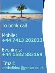 To book call 07876 21069 or email michelldeal@yahoo.co.uk